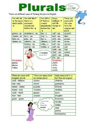 English Worksheets: Plurals (10.11.09)