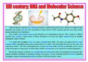 English Worksheets: XXI century: DNA and Molecular science. Text for reading.