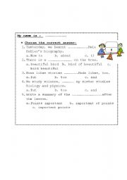 English Worksheets: using conjunction