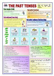 English Worksheet: THE PAST TENSES