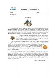 English Worksheets: Simulado