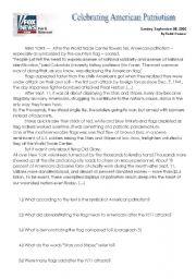 English Worksheets: Patriotism after 9/11