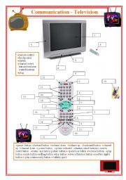 English Worksheets: Communication- Television