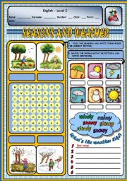 English Worksheet: SEASONS AND WEATHER