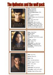 New moon characters  - speaking cards 3/5