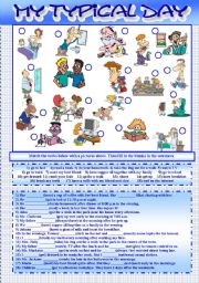 English Worksheets: My Typical Day