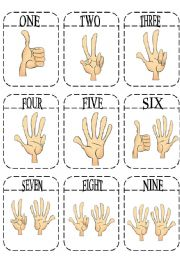 English Worksheet: Numbers Game Cards  + Rules
