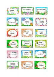 English Worksheet: Special stickers for the special ones!