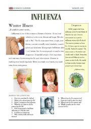 English Worksheets: influenza