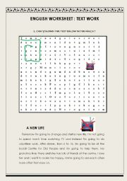 Text Maze: A New Life