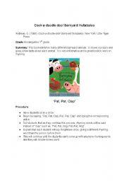 English Worksheets: Barnyard Hulabaloo- Book and Activity