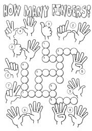 English Worksheets: How many fingers?