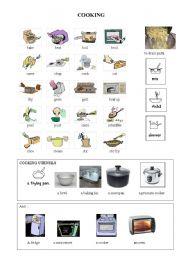 English Worksheet: Cooking and food prep