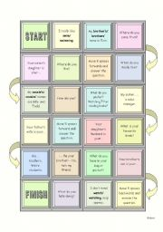 English Worksheets: Board Game - elementary speaking and grammar