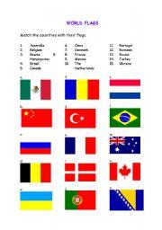 English worksheet: World Flags