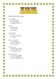 English Worksheets: Movie The Challenge