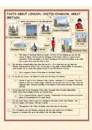 English Worksheets: �Facts about London, the UK and GB�