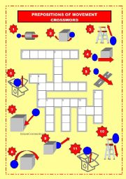 prepositions of movement crossword. Black Bedroom Furniture Sets. Home Design Ideas