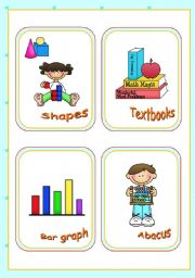Classroom objects and symbols Set (3) - Vocabulary associated with Mathematics