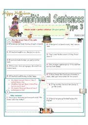 English Worksheet: Conditional sentences (Type 3 ) 4/4