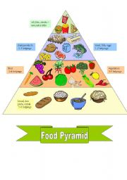 English Worksheet: FOOD PYRAMID + worksheet