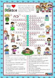 English Worksheet: Classroom objects and symbols Set (6) - Vocabulary you can hear in a Science Class