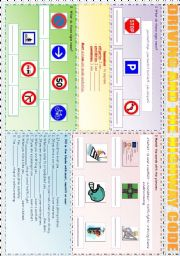 English Worksheet: DRIVING AND THE HIGHWAY CODE - MUST, MUSTN´T AND CAN´T