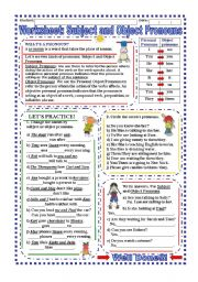 English Worksheet: Worksheet: Subject and Object Pronouns