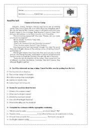 7th Grade Test - School Life
