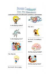 English worksheet: ask and answer