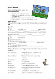 English Worksheets: Movie: over the hedge