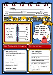 English Worksheet: VERB TO BE 2