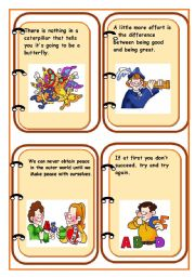 English Worksheets: QUOTES AND SAYINGS