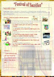 English Worksheets: Festival of sacrifce