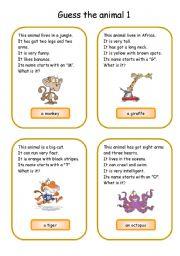 Animals card game 1