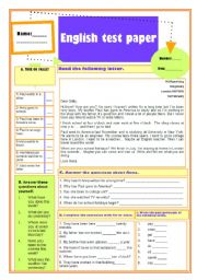 English worksheet: Present Perfect - text and questions(19.11.09)