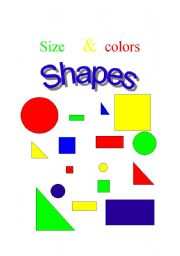 english worksheet shapes size and colors. Black Bedroom Furniture Sets. Home Design Ideas