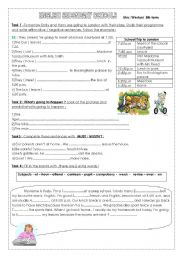 English Worksheet: English secondary schools / BE GOING TO FORM