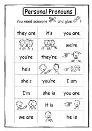 Printables Personal Pronouns Worksheet english teaching worksheets personal pronouns 12 puzzle 2 sheets