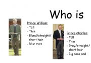 English Worksheet: Who is who game - british royal family (part 1)