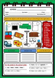 English Worksheets: HOUSE 2 (OBJECTS)