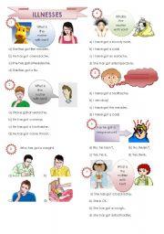 English Worksheet: illnesses