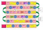 English Worksheet: Tenses Board Game