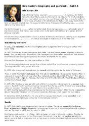 English Worksheets: BOB MARLEY