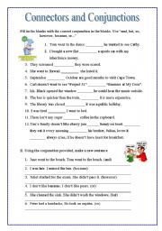 English Worksheets: Connectors and Conjunctions