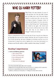 English Worksheet: Who is Harry Potter?