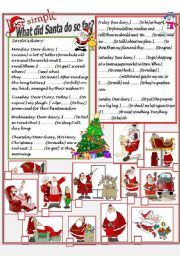 English Worksheets: Santa�s diary