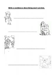 English Worksheets: Use pictures as prompt for wiritng.