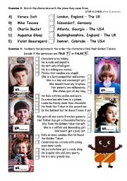 English Worksheet: PART 2/4 Charlie & The Chocolate Factorym - movie worksheet