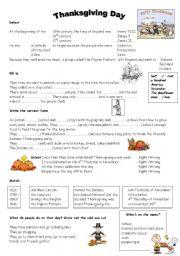 english teaching worksheets thanksgiving day. Black Bedroom Furniture Sets. Home Design Ideas